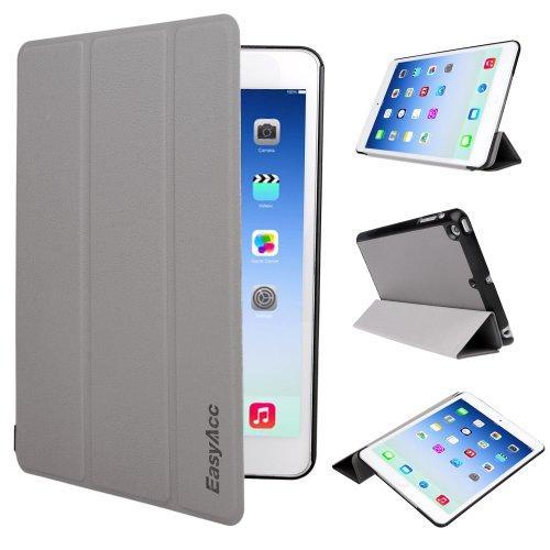 EasyAcc® Ultra Slim Étui Housse en Cuir pour iPad mini / iPad mini Retina avec stand de positionnement – Smart Cover pour Apple iPad mini / iPad mini 2 support et le sort de veille (Noir, PU Cuir, Ultra Slim)