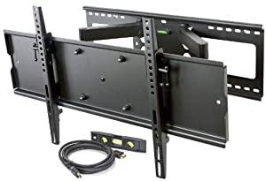 Videosecu Heavy Duty Dual Arm Cantilever Swingout Articulating Tv Wall Mount Bracket For 32 65 Plasma Lcd Lfd Led Tv Flat Screen Display Such As Dynex Dell Olevia Syntax Polaroid Sony Samsung Lg