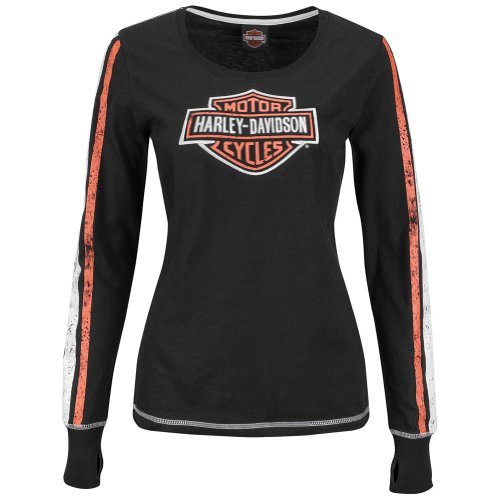 Harley-Davidson® Womens It Counts Black Long Sleeve T-Shirt (Medium)