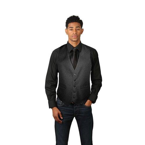 Men'S Black Full Back Dress Vest-4X-Large