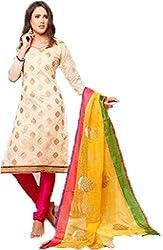 Vivacity Women's Cotton Unstitched Dress Material (Chillax-10_Multi_Free Size)