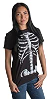 Skeleton Rib Cage | Jumbo Print Novelty Halloween Costume Ladies' T-shirt
