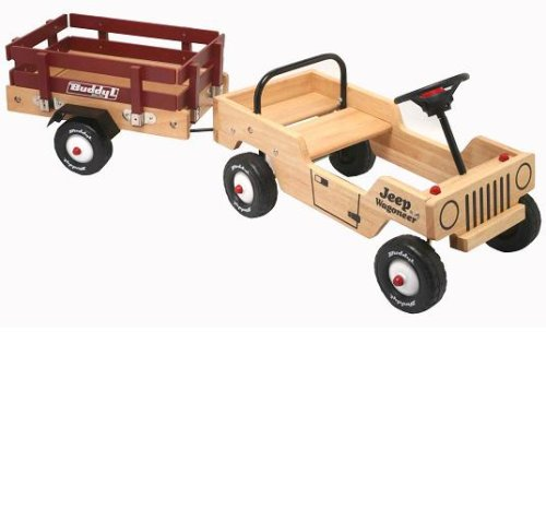 Wooden Jeep Wagoneer Foot To Floor Ride On With Trailer - Buy Wooden Jeep Wagoneer Foot To Floor Ride On With Trailer - Purchase Wooden Jeep Wagoneer Foot To Floor Ride On With Trailer (Imperial Toy, Toys & Games,Categories,Bikes Skates & Ride-Ons,Ride-On Toys,Wagons)