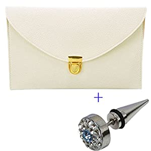 xuifen shop Women's Envelope Clutch, Beige