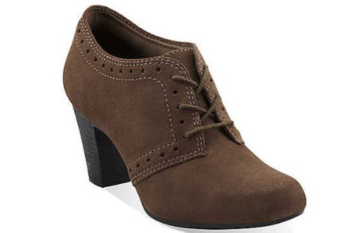 Clarks Clarks Women's Sapphire Chloe Lace-Up Boot Brown Suede 12-M