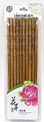 Natural Round Bamboo Reusable Chopsticks, Size 9.5 Inch, Set of 10 Pairs