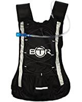 BTR Hydration Pack - Double Thick Bladder (2 Litre) PLUS 8 Litre Backpack/Rucksack - Suitable for Cycling, Hiking, Running, Camping, Walking