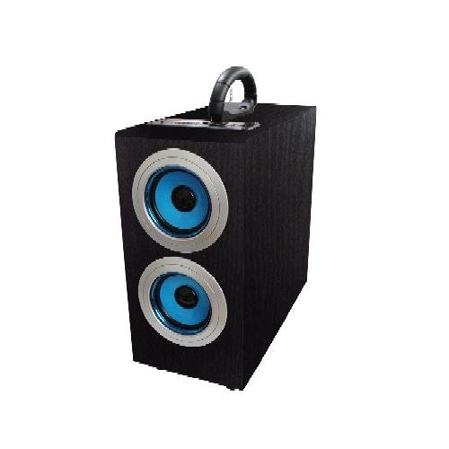 Axess Sp1003-Bl Music Box Speaker With Subwoofer Includes Fm Stereo, Sd/Usb/Line-In Inputs(Blue)