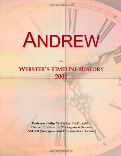 Andrew: Webster'S Timeline History, 2001