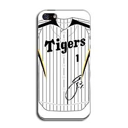 『1 鳥谷 敬』サイン入り! 阪神タイガース iPhone5 ケース ユニフォーム柄(ホーム) カバー アイフォン5 SoftBank au TL-STAR