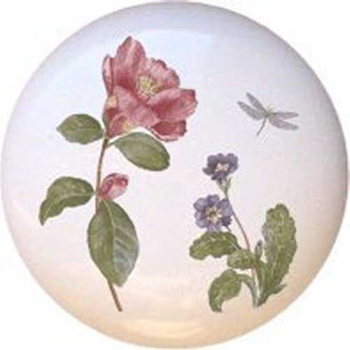 Camellia Decorative Glossy Ceramic Drawer Pull Dresser Knob (Corelle Chutney Dishes compare prices)