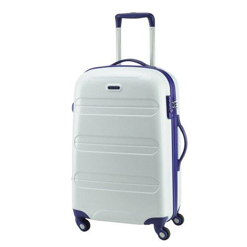 【 President 】スーツケース キズに強いダイアモンドエンボス加工 TSAロック搭載  【CONWOOD PC011ファスナー】3年保証 5COLOR 3サイズ【大型、中型、小型】 (1.大型, ホワイト)