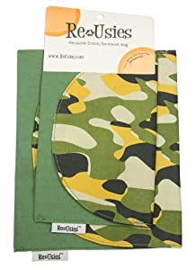 ReUsies 2 Pack Snack and Sandwich Reusable Bags, Camo