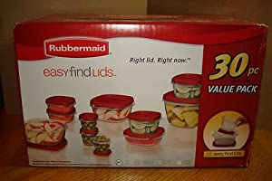 Rubbermaid Easy Find Lid 30-Piece Food Storage Container Set