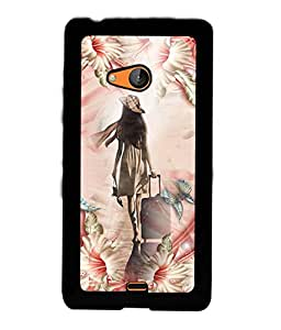 PrintVisa Back Cover for Nokia Lumia 540 (Multi-coloured)