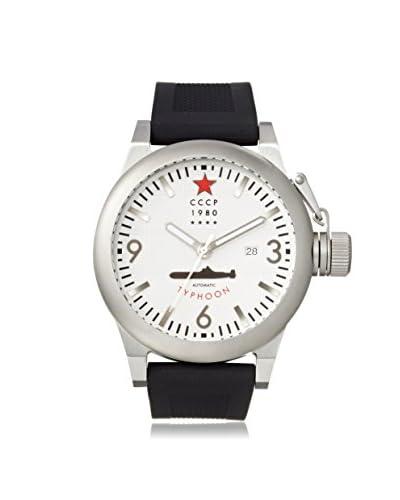 CCCP Men's 7018-02 Typhoon Analog Display Automatic Self Wind Black Watch