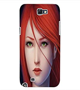 ColourCraft Beautiful Lady Design Back Case Cover for SAMSUNG GALAXY NOTE 2 N7100