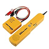 Semoic CABLE FINDER TONE GENERATOR PROBE TRACKER WIRE NETWORK TESTER TRACER KIT (Color: Yellow)
