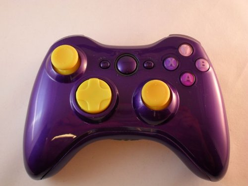Glossy Purple Xbox 360 Modded Controller (Rapid Fire) Cod Black Ops 2, Mw2, Mod Gamepad Leds