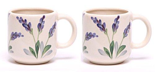Emerson Creek Ceramic 16 Oz Large Mug, Set Of 2, Stoneware Made In The Usa (Lavender)