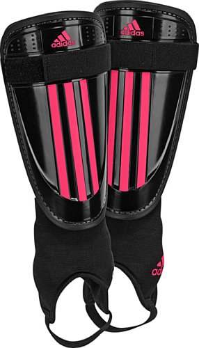 Adidas Adi Club Shin Guard, Black/Fresh Pink, Large