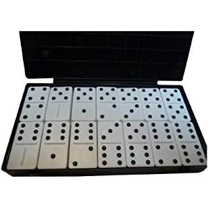 Double-Six Dominoes; Plastic (With Raised Dots)