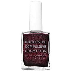 Obsessive Compulsive Cosmetics Nail Lacquer, Black Metal Dahlia, 0.5 Fluid Ounce