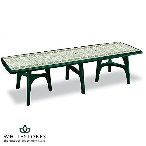 Président Table de salle à manger rectangulaire en fonte-Couleur :  vert forêt
