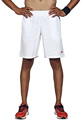 High On Game Running and All Sports Basic White Shorts