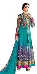 Aarsh Apparel Women's Net Anarkali Suit Dress Material (aa-blueLH_ss_Sky Blue_Free Size)