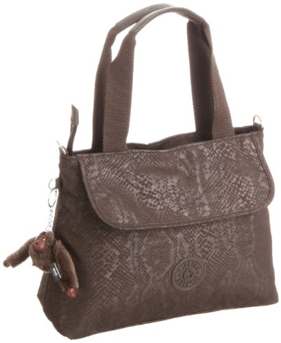 Kipling Womens Enora Handbag Brown Snake K10752
