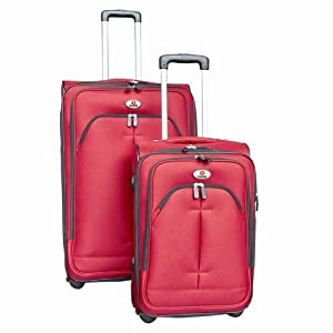 Swiss Case Superlight 2 Piece Wheeled Suitcase Set Red by Swiss Case
