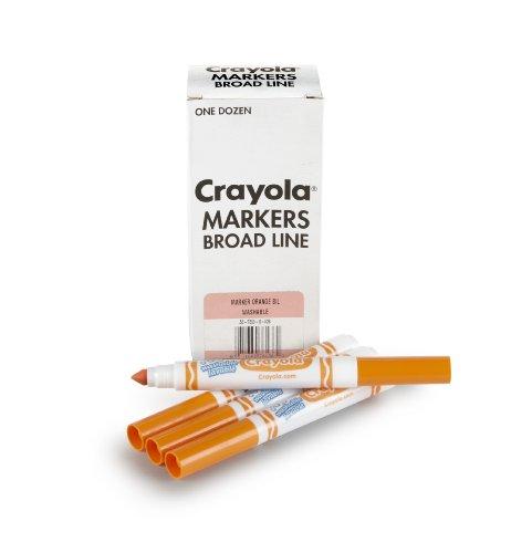Crayola 12 Count Washable Bulk Markers, Orange