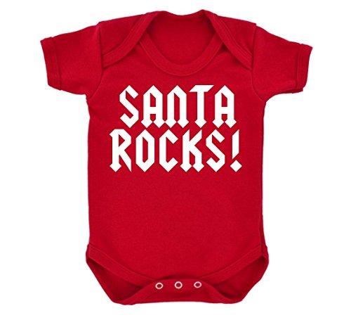 Rocce, motivo: Babbo Natale, colore: rosso con Design Body per neonato, colore: bianco rosso 2 mesi