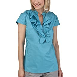 Product Image Merona® Collection Women's Stephanie Ruffle Top - Bermuda Sea