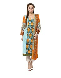 Yepme Women's Multi-Coloured Blended Semi Stitched Suit - YPMRTS0327_Free Size