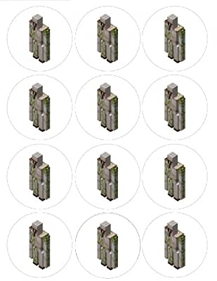 Single Source Party Suppies - 25 Minecraft Cupcake Edible Icing Image Toppers 2 by Single Source Party Supplies