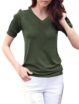 Shirt Top at Amazon Women's Clothing store: Blusas De Mujer De Moda