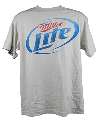 Rock Solid Shirts Miller Lite Beer Men's T-Shirt - 2X Large - Light Brown