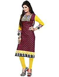 Nakoda Women's Cotton Unstitched Kurti(930_Multi Color_Free Size)