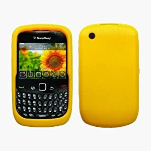 Yellow Silicone Case / Skin / Cover for RIM BlackBerry Curve 8520 / 8530