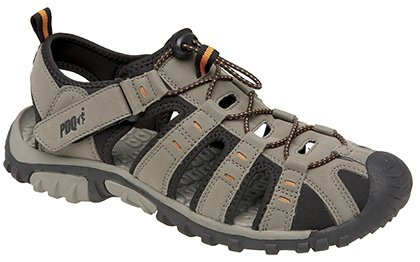 Mens Terminale Toggle Chiusura & Touch Sports Trail sandali, beige (Dark Taupe/Orange), 40