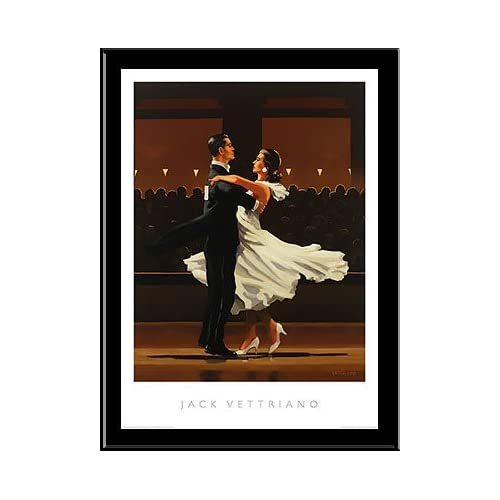 "Amazon.com: Jack Vettriano, ""Take This Waltz"" FRAMED ART 24x32: Prints"