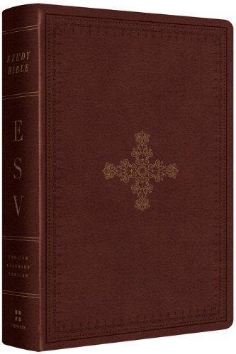 ESV Study Bible, Personal Size (TruTone, Deep Brown, Ornate Cross Design) by ESV Bibles by Crossway (3/28/2013) (Esv Personal Size Study Bible compare prices)