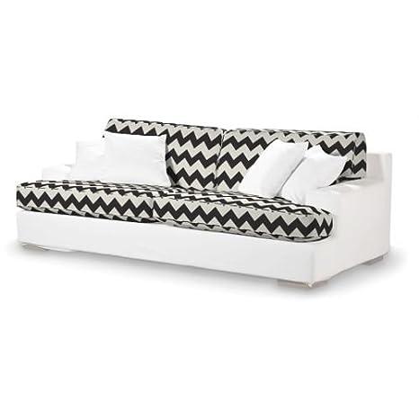 4-tlg. Sofa-Bezug-Set Comics Farbe: Schwarz / Weiß