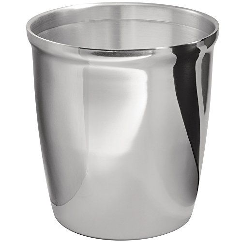 mDesign Wastebasket Trash Can - Polished Stainless Steel (Stainless Waste Can compare prices)