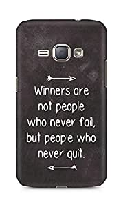 AMEZ but people who never quit Back Cover For Samsung Galaxy J1 (2016 EDITION)