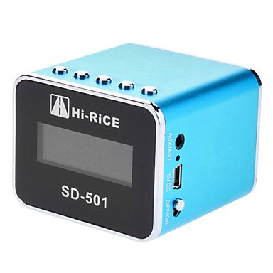 Zcl Hi-Rice Sd-501 Portable Rechargeable Digital Media Speaker With Clock Ans Calendar Function (5 Colors)Sd-501 , Black
