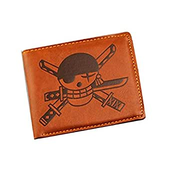 Tenflyer Retro PU Anime Pirate Printing Wallet Purse Pouch Cosplay Costume