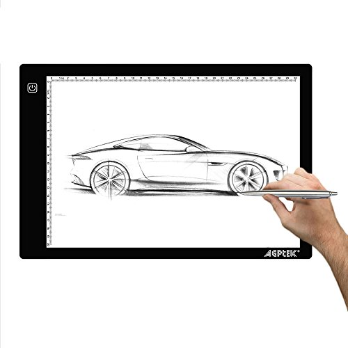 AGPtEK LED Tracing Light Box 14.7 Inch X 9.45 Inch Drawing Tablet Pad Adjustable Brightness For Sketching Drawing Projects (Drawing Pad For Laptop compare prices)